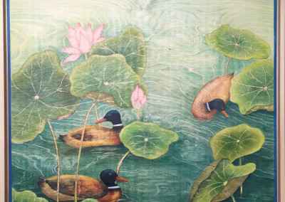 The Lotus Pond painting by Sally Williams