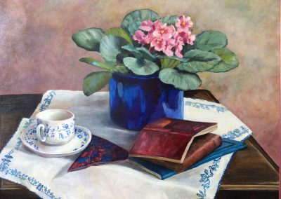 African Violet painting by Sally Williams