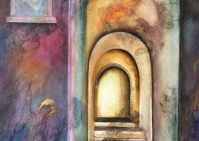 Cathedral painting by Sally Williams