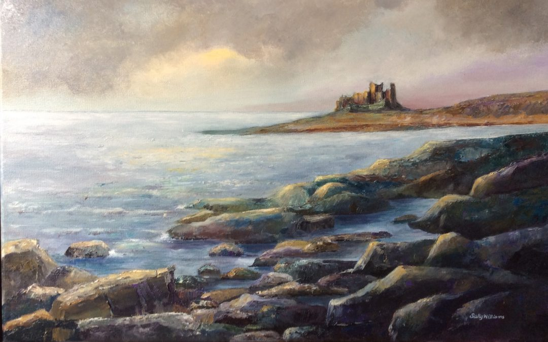 NEW: Evening Light, Bamburgh by Sally Williams