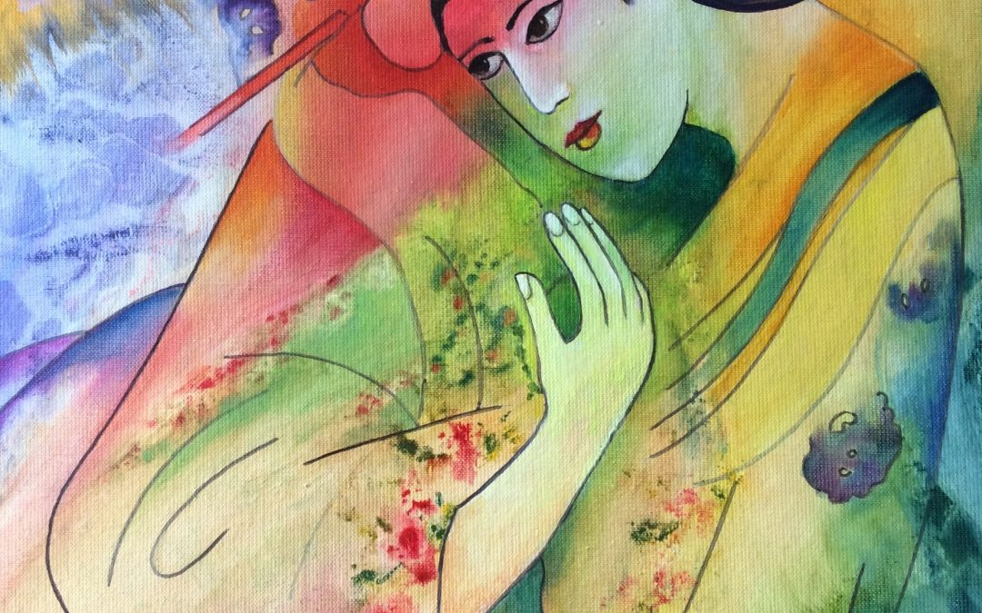 NEW: Geisha, painting by Sally Williams