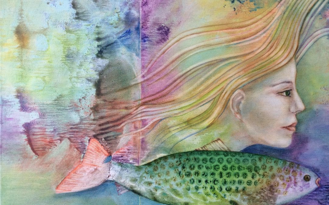 NEW: Mermaid, painting by Sally Williams