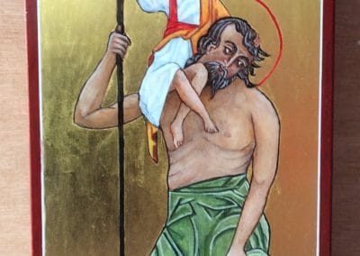 St Christopher Icon by Sally Williams
