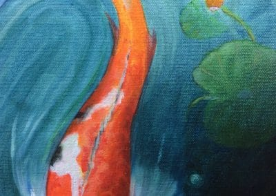 Koi 3 - painting by Sally Williams