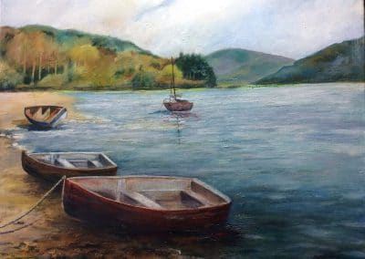 Lakeland Memories - painting by Sally Williams, Oil on Canvas, 60cm x 50cm